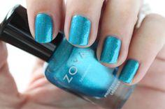 Zoya Paradise Sun Swatches Oceane Blue Shimmer Nail Polish #EverydayZoya