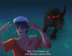 percy watch out theres a bloodhound behind you oh my god he has airpods in he cant hear us oh god OH FUCK- Percy Jackson Fan Art, Percy Jackson Memes, Percy Jackson Books, Percy Jackson Fandom, Percy Jackson Ships, Magnus Chase, Rick Riordan Series, Rick Riordan Books, Solangelo