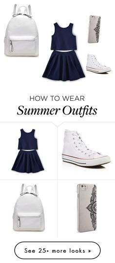 """Summer outfit ❤️"" by queenjess12 on Polyvore featuring Converse and Nanette Lepore"