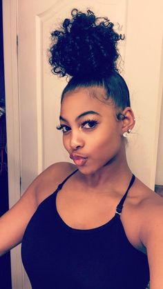 Shela hair Bundles with Lace Closure Mongolian Afro Kinky Curly Human Hair Weave With Closure Baddie Hairstyles, Black Girls Hairstyles, Bun Hairstyles, College Hairstyles, Girl Haircuts, Hair Inspo, Hair Inspiration, Curly Hair Styles, Natural Hair Styles