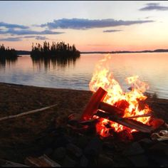 Not much is better then a camp fire by the water!!