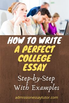 It's not enough to write a just OK college essay, particularly if you're aiming towards a competitive school. Instead you need to write an impressive essay to help you stand out from the crowd. Here you will find a step-by-step workshop tutorial to write an outstanding college admissions essay. #CollegeApplicationEssay #CollegeEssayExamples #HowtoStartaCollegeEssay College Essay Examples, College Application Essay, College Admission Essay, College Planning, Homeschool High School, Writing Prompts, Crowd, Workshop, Tips
