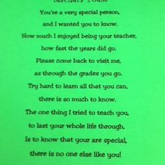 Year end teacher poem