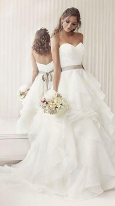 Fun, flirty wedding dress with swarovski crystal and diamantés beading