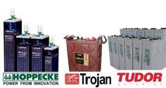 Ejemplos de baterías solares estacionarias y monobloque