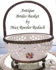 Antique Brides Basket Rodach Max Roesler Rare by HeirloomCurio, $180.00