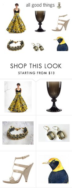"""""""all good things"""" by seasidecollectibles ❤ liked on Polyvore featuring Michael Aram, Gianvito Rossi and vintage"""
