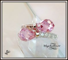 Pink Teardrops in Crystals.... Starting at $16