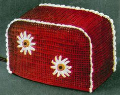 Toaster Cover crochet pattern from Crochet Gifts & Bazaar Novelties, originally published by the DMC Corporation, Volume 405, in 1953.