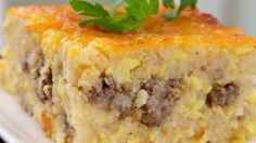 Grits are a must for breakfast in some parts of the world. They are baked with sausage, eggs, and cheese in this fantastic breakfast casserole.