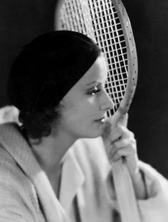Garbo, Greta - Actress, Sweden - *-+ Role portrait with tennis racket in the film 'The Kiss' Directed by: Jacques Feyder USA 1929 Film Production: Metro-Goldwyn-Mayer - Photographer: Clarence. Get premium, high resolution news photos at Getty Images Hollywood Cinema, Hollywood Stars, Classic Hollywood, Old Hollywood, Hollywood Glamour, Hollywood Actresses, Audrey Hepburn, Katharine Hepburn, Marlene Dietrich