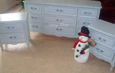 Perspective Gray French Bedroom Set---from Vintage Paints, in Orlando FL