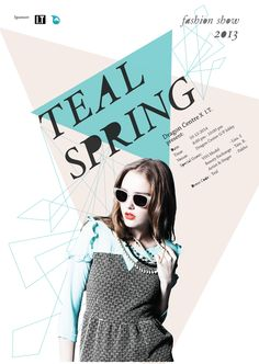 Teal Spring Fashion Show Poster on Behance