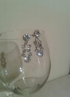 Kup mój przedmiot na #vintedpl http://www.vinted.pl/akcesoria/bizuteria/6090193-kolczyki-krysztalki-wiszace-na-slub