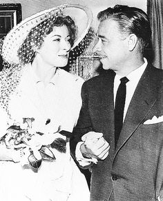 """Greer Garson with Buddy Fogelson...In 1949, she married a millionaire Texas oilman and horse breeder, E.E. """"Buddy"""" Fogelson (1900–1987)...her 3rd husband & in 1967, the couple retired to their """"Forked Lightning Ranch"""" in New Mexico."""