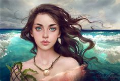 'Water Splash' Adoptable Portrait (48hrs) OPEN by Selenada on DeviantArt