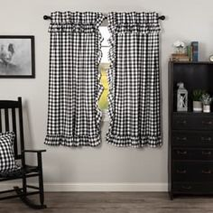 Check Curtains, Cool Curtains, Rod Pocket Curtains, Lined Curtains, Colorful Curtains, Curtain Panels, Plaid Curtains, Country Curtains, Beautiful Curtains