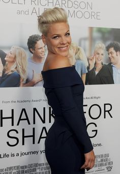 Pin for Later: 93 Stars Whose Real Names Will Surprise You Pink = Alecia Beth Moore Short Grey Hair, Short Hair Cuts, Pixie Cuts, Pixie Undercut, Celebrity Hairstyles, Cool Hairstyles, Singer Pink Hairstyles, Pink Haircut, Haircut 2017