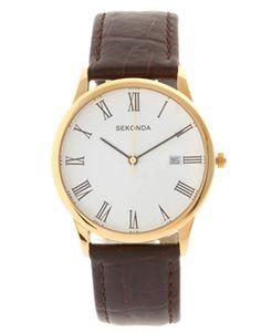 Sekonda Brown Strap Watch