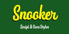 Designed by Emil Karl Bertell, Snooker is a hand drawn and script font family. This typeface has eight styles and was published by Fenotype. Font Shop, Bold Fonts, Premium Fonts, Font Family, Script, Character Design, Web Design, Typography, San