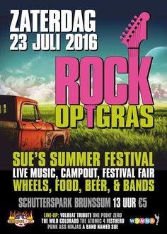 de poster Rock op 't Gras 2016 #rotg2016 #wonna #band sue