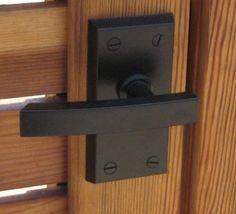 Nero Contemporary Black Lever Garage Door Handle- for dressing rooms