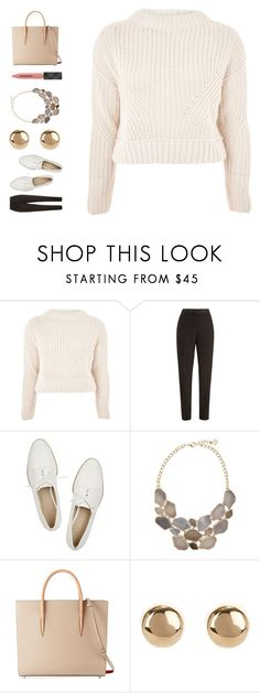 """Sem título #485"" by ouchm4rvel ❤ liked on Polyvore featuring Topshop, Oscar de la Renta, Pour La Victoire, Christian Louboutin, Jules Smith and Burberry"