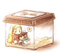 So cute~~~ Artist: Keluy - Erwin and Levi