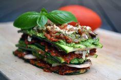 gezond voorgerecht raw lasagne