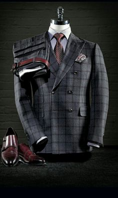 Men's Suit | Raddest Men's Fashion Looks On The Internet: http://www.raddestlooks.org I Love this look, the double breast suit is always awesome and when you're tall and thick it's 10's across the board!!!!!.....RR