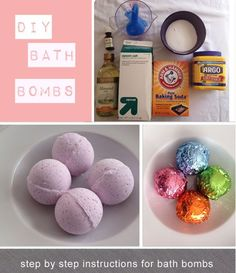 Bath bombs, this was a pretty good recipe but I would make sure to do it in a shallow mold and if you use coconut oil it gets much harder.