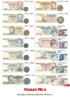 Polish Zloty than and now. Poland Culture, Poland Country, Polish Names, Polish Language, Historical Monuments, Montessori Materials, Human Development, My Heritage, Retro