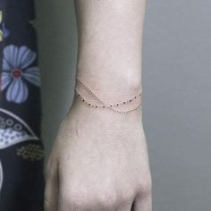 """1,561 Likes, 21 Comments - ✤ Tattoo + Illustration ✤ (@rachainsworth) on Instagram: """"Sweet little minimal dot bracelet. Have a good day!  ________________ #rachainsworth…"""""""
