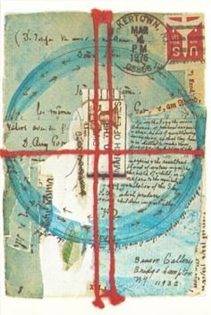 Postcard-of-Collage-by-Lenore-Tawney-1977-Mail-Art