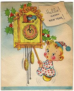 Vintage New Year Cards, Orkut Scraps, Greetings, Graphics, Images