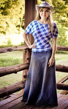 Fresh Modesty - she made the shirt and skirt!!!