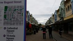 Only street in Christchurch not to have buildings destroyed or demolished by quakes in New Zealand, Cathedral, Buildings, Street View, City, Cities