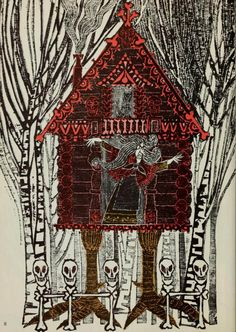 "ohsamiam: "" Ernest Small, Baba Yaga Illustrations by Blair Lent. Ernest Small was a pseudonym for Blair Lent. Baba Yaga House, Shaman Woman, Russian Folk, Witch House, Children's Book Illustration, Conte, Folklore, Illustrators, Fairy Tales"