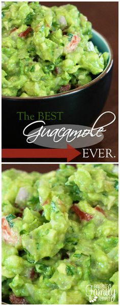 This truly is THE best guacamole EVER. It is the ONLY guacamole recipe you will ever need. Just a few simple ingredients and you've got yourself the best guac in town. #guacamole #guacamolerecipe via @favfamilyrecipz