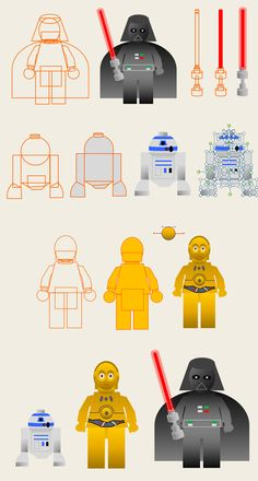Star Wars pictogram characters by Gerard Friel