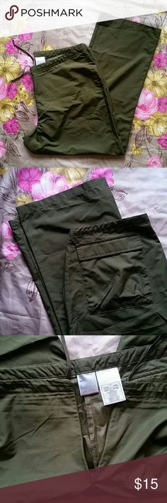 Military Green Nike Wind Breaker Pants XL 16 18 Worn once. Excellent condition. Nike Pants