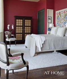 design by crowder designs photographed by rett peek for a t home in arkansas magazine burnt red burnt red home office