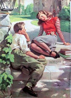 Super Ideas For Vintage Retro Girl Gil Elvgren Romance Art, Vintage Romance, Lovers Romance, Couple Romance, Retro Art, Retro Vintage, Vintage Makeup Ads, Comics Vintage, Vintage Couples