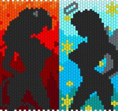 Devil And Angel Silhouette bead pattern  bubs gonna love this one lol