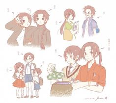 Hetalia School!Asians. Elementary - Hong Kong, Taiwan, Macau.  Middle- North Korea, South Korea.  High- Japan.  College- Vietnam and Thailand.  Working- China.