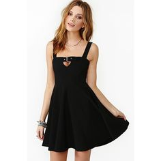 Buckle Down Skater Dress ($41) ❤ liked on Polyvore