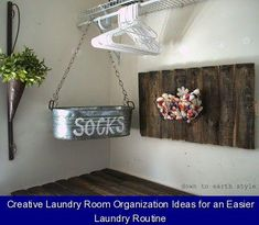 Creative Laundry Room Organization Ideas for an Easier Laundry Routine {117177} #laundry #storage #laundrystorage These creative laundry room organization ideas will help make the home of this less than exciting chore one of your favorite places to spend time! Laundry Room Remodel, Laundry Room Organization, Laundry Storage, Laundry Room Design, Closet Storage, Organization Ideas, Storage Ideas, Storage Shelves, Storage Organizers