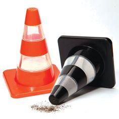Traffic Cones: Salt & Pepper Shakers by LabyrinthBarcelona on Etsy