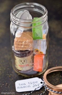 Mason jar gift tea time