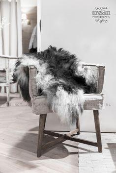 Grey icelandic sheepskin.